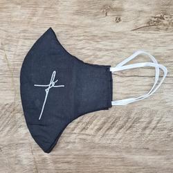 Máscara em Tecido - Fé Preto - 26871 - Betânia Loja Católica