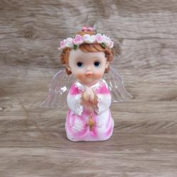 Anjinho com asa iluminada 12 cm -Rosa - 27438 - Betânia Loja Católica