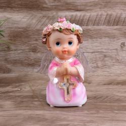 Anjinho reza Pai Nosso - 17 cm Rosa - 27444 - Betânia Loja Católica