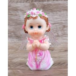 Anjinho com asa iluminada 15 cm - Rosa - 27436 - Betânia Loja Católica