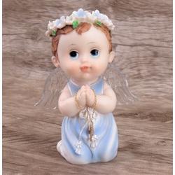 Anjinho com asa iluminada 15 cm - Azul - 27437 - Betânia Loja Católica