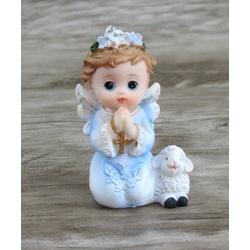 Anjinho em resina : 7 cm - Azul - 27443 - Betânia Loja Católica