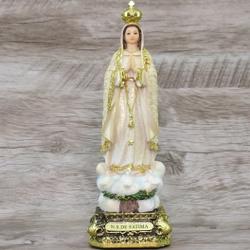 Imagem Resina - Nossa Senhora de Fátima 20 cm - 13... - Betânia Loja Católica
