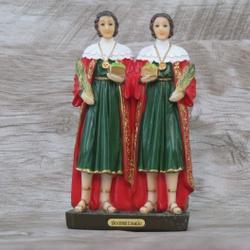 Imagem Resina - São Cosme e Damião 15 cm - 25143 - Betânia Loja Católica