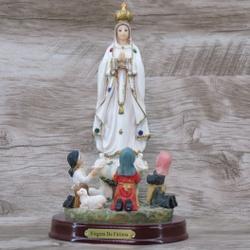 Imagem Resina - Nossa Senhora de Fátima 20 cm - 19... - Betânia Loja Católica