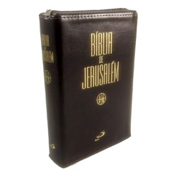 Bíblia de Jerusalém - Editora Paulus - Couro Marro... - Betânia Loja Católica