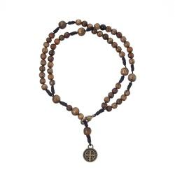 Pulseira Terço - com Medalha de São Bento Embuia -... - Betânia Loja Católica