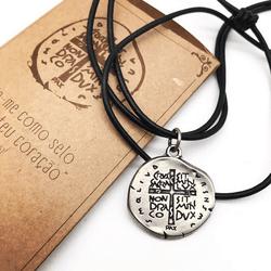 Cordão Medalha das Duas Cruzes - 24692 - Betânia Loja Católica