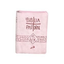 Bíblia Pastoral - Rosa de Zíper - 23984 - Betânia Loja Católica