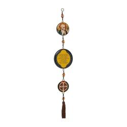 Adorno de Porta Medalha Dourada de São Bento - 807... - Betânia Loja Católica