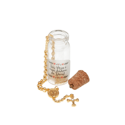 Colar Terço Metal Dourado - Vidrinho - 26365 - Betânia Loja Católica