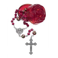 Terço Perfumado de Rosas 6mm- Santa Teresinha - 18... - Betânia Loja Católica