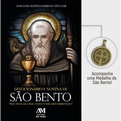 Devocionário e Novena de São Bento - Acompanha Med... - Betânia Loja Católica