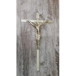 Crucifixo de Parede Estilizado -22x38 Dourado (ref... - Betânia Loja Católica