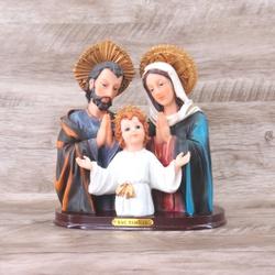 Imagem : Busto Sagrada Família em Resina - 19,3 cm... - Betânia Loja Católica