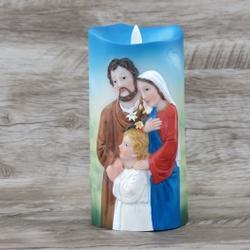 Imagem Luminária em Led -Sagrada Família17 cm - 22... - Betânia Loja Católica