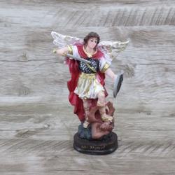 Imagem em Resina - São Miguel Arcanjo 15 cm - 264... - Betânia Loja Católica