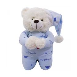 Urso Pelúcia - Reza Pai Nosso - Azul Claro - 26305 - Betânia Loja Católica