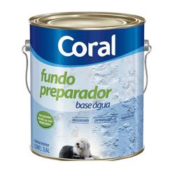 CORAL FUNDO PREPARADOR BASE AGUA INCOLOR 3,6L - Biadola Tintas