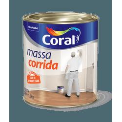 CORAL MASSA CORRIDA BRANCO 1,5KG - Biadola Tintas