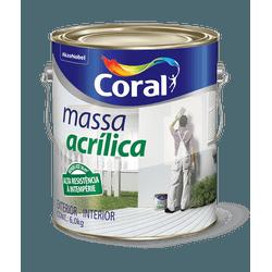 CORAL MASSA ACRILICA BRANCO 6KG - Biadola Tintas