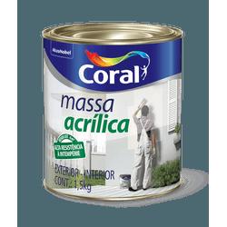 CORAL MASSA ACRILICO BRANCO 1,5KG - Biadola Tintas