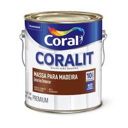 CORAL MASSA PARA MADEIRA BRANCO 6KG - Biadola Tintas