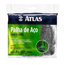 ATLAS PALHA DE AÇO N1 REF. AT90/60 - Biadola Tintas