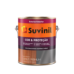 SUVINIL ESMALTE COR E PROTECAO FOSCO PRETO 3,6L - Biadola Tintas