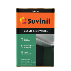 SUVINIL GESSO & DRYWALL 18L - Biadola Tintas