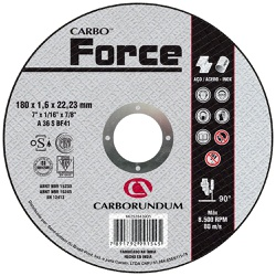 Disco de Corte Carbo Force 180 x 1,6 x 22,23 MM - Bignotto Ferramentas