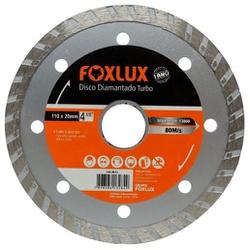 "Disco Diamantado Turbo Foxlux 4 3/8"" 110 x 20mm - Bignotto Ferramentas"