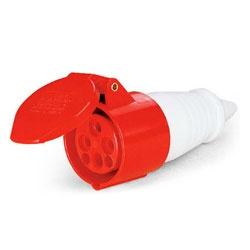 Acoplamento Lukma 3P+T 32A 380-415V 6H Vermelho - Bignotto Ferramentas