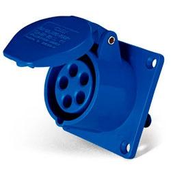 Tomada Embutir Lukma 3P+T 32A 220-240v 9h Azul - Bignotto Ferramentas