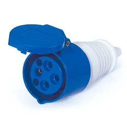 Acoplamento Lukma 3P+T 16A 220-240V 9H Azul - Bignotto Ferramentas
