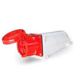 Tomada Sobrepor Lukma 3P+T 125A 380-415V 6 Vermelh - Bignotto Ferramentas