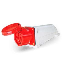Tomada Sobrepor Lukma 3P+T 63A 380-415V 6H Vermelh - Bignotto Ferramentas
