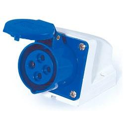 Tomada Sobrepor Lukma 3P+T 16A 220-240V 9H Azul - Bignotto Ferramentas