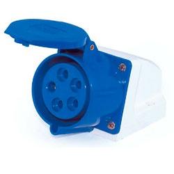 Tomada Sobrepor Lukma 3P+T+N 16A 220-240V 9H Azul - Bignotto Ferramentas