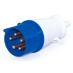 Plug Lukma 3P+T+N 16A 220-240V 9H Azul - Bignotto Ferramentas