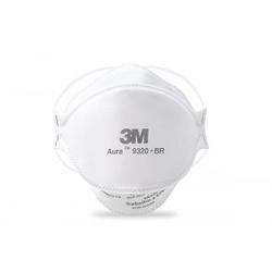 Máscara Descartável PFF2 BR N95 Aura 9320 3M - Bignotto Ferramentas