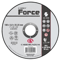 Disco de Corte Carbo Force 180 x 3,0 x 22,23 MM - Bignotto Ferramentas