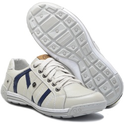 Sapato Masculino Casual Porshe Arfada 121/02 Gelo ... - BMBRASIL CALÇADOS
