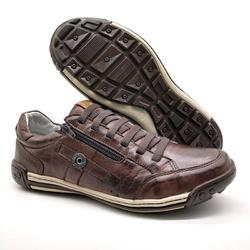 Sapato Masculino Casual Zíper e Elástico Palmilha ... - BMBRASIL CALÇADOS