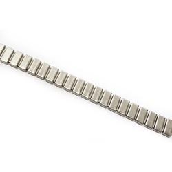 Corrente Flat 10x4mm - Banho Prata Velho. - 003387 - BMSTRASS