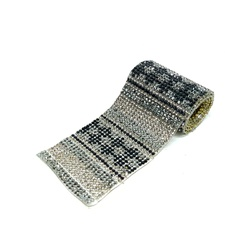 Tira - Étnica Maya, Black Diamond, 40x3,5cm. - 197... - BMSTRASS