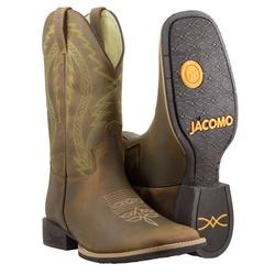 Bota Texana Premium Masculina Mangalarga Crazy Amendoa