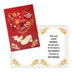 Cartão Te Amo - FLORABARIGUI