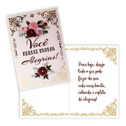 Cartão Alegrias - FLORABARIGUI