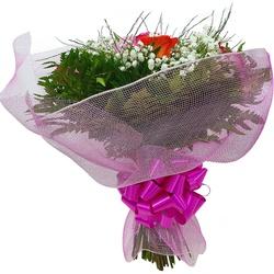 Buquê de Rosas coloridas em tela - FLORABARIGUI